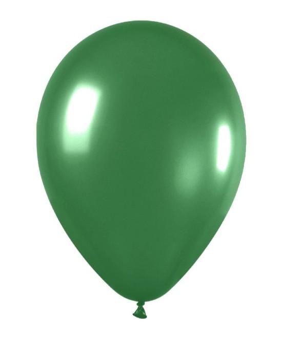 Bolsa 50 Globos Metal Verde