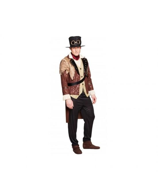 Disfraz capitan Steampunk hombre T.XL