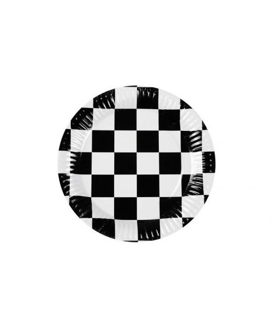 Platos Racing 23 cm desechables 6 uds.