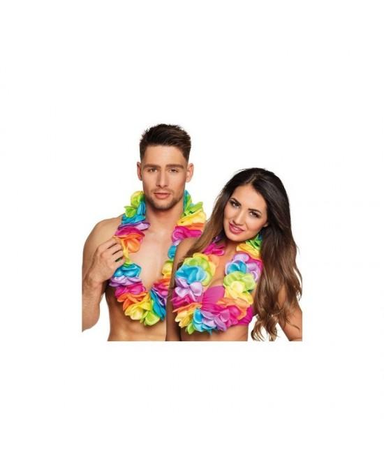 Collar Hawaiano rainbow deluxe XL