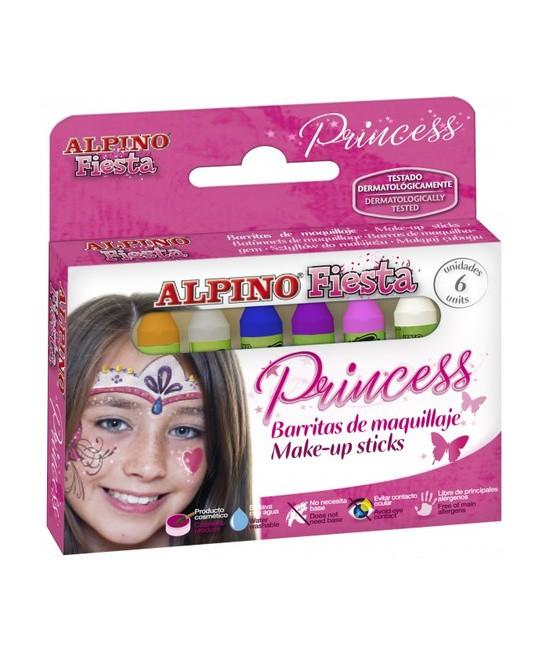 Set Fiesta Princesas Maquillaje 6 Barras