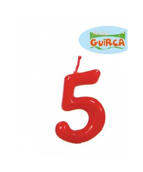 Vela Roja De Cumpleaños Nº5