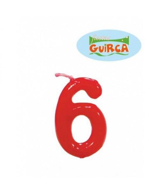 Vela Roja De Cumpleaños  Nº6