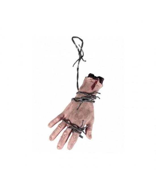 Mano sangrienta con alambre 22.5x10 cm