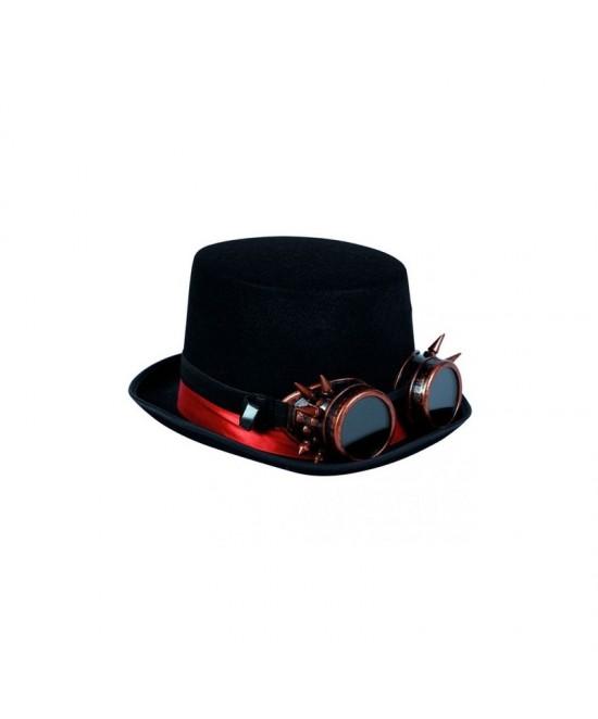 Chistera Steampunk con gafas de puas