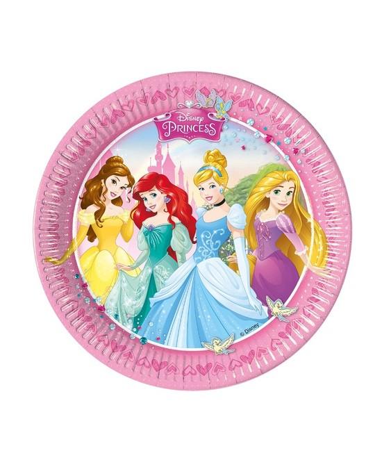 Bolsa 8 Platos 23 Cm. Princesas