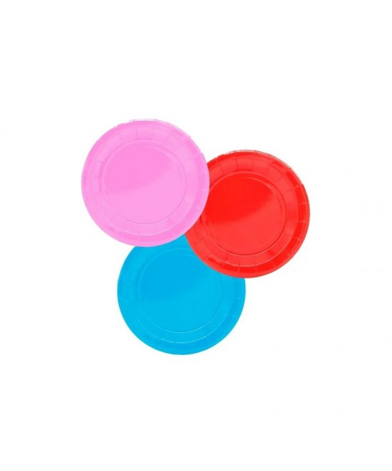 Platos Desechables Colores Grandes 10uds