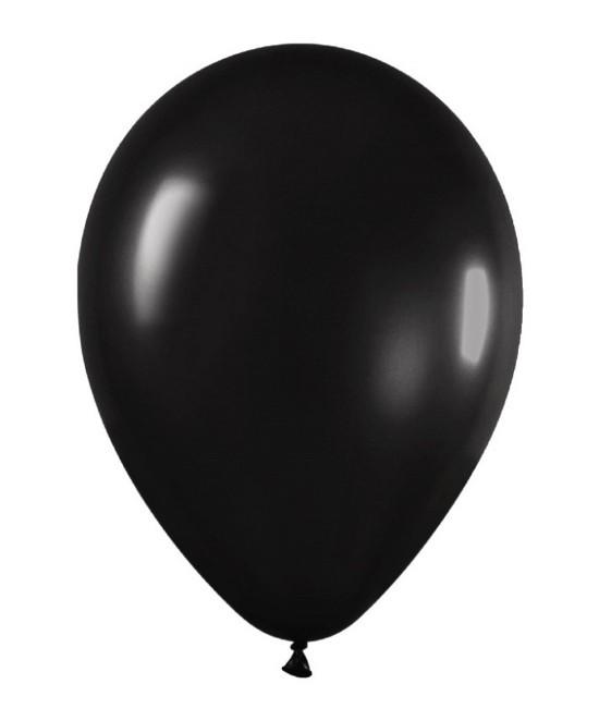 Globo Látex Metal Negro
