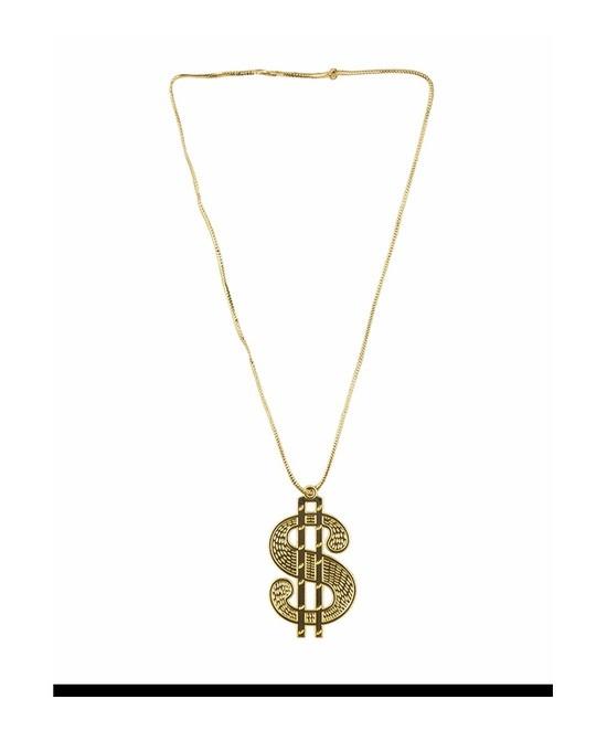 Collar Simbolo Dollar plastico