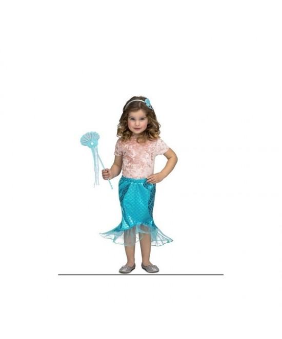 Disfraz Tutú Sirenita rosa/azul niña
