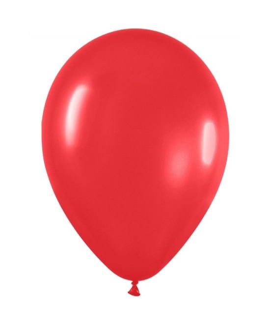 Bolsa 100 Globos R-5 SÓlido Rojo