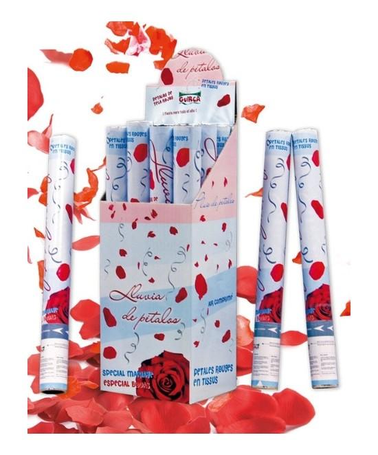 Cañón Pétalos De Rosa Rojos 50cm