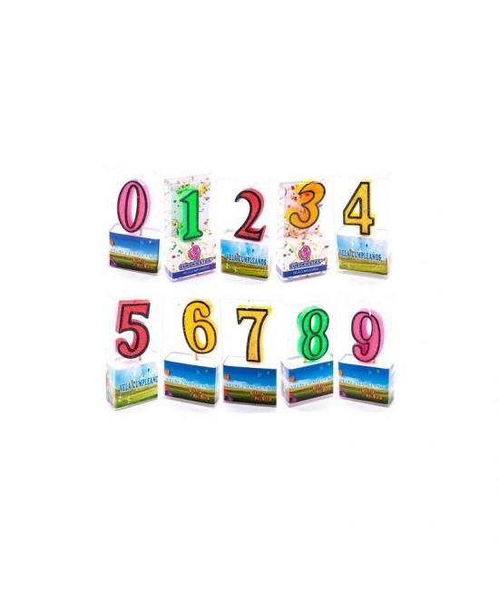 Velas Purpurina números Eurofiesta