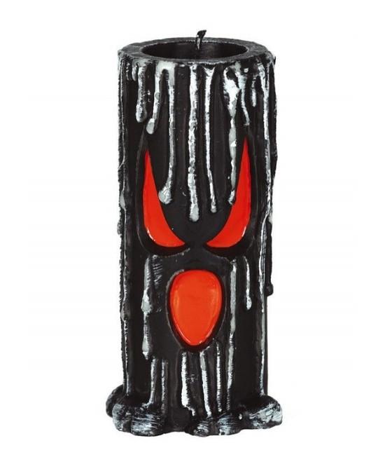 Velón negro con cara 15x6 cms