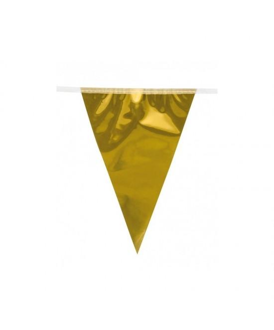 Guirnalda banderines plata-oro met.10 M.