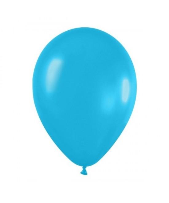 Globos Látex Azul Caribe