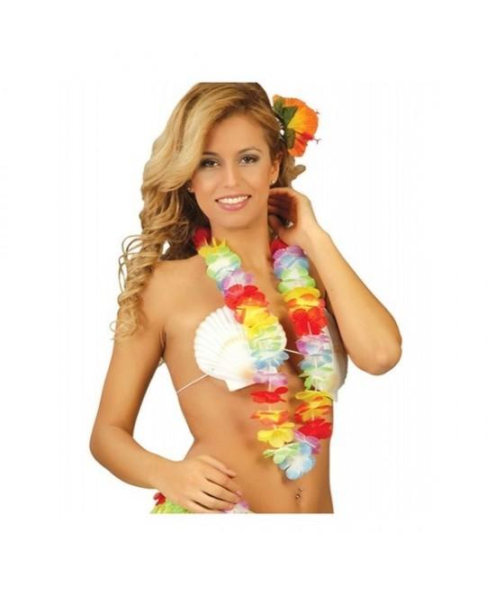 Collar Hawaiano Tela Multicolor
