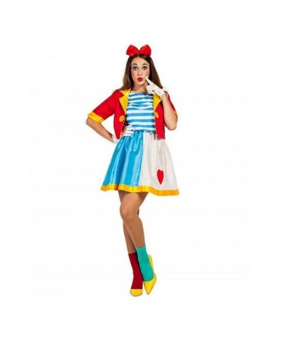 Disfraz Payasa circo para mujer