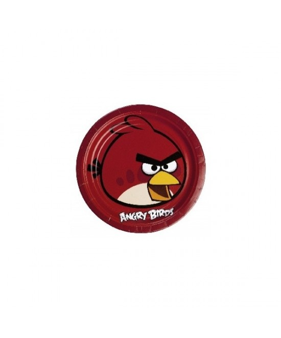 Platos 23cm Angry Birds 10x8  8 Unid.