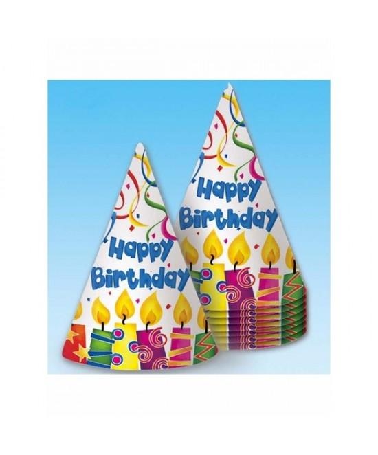 Bolsa 8 Gorros Happy Birthdays