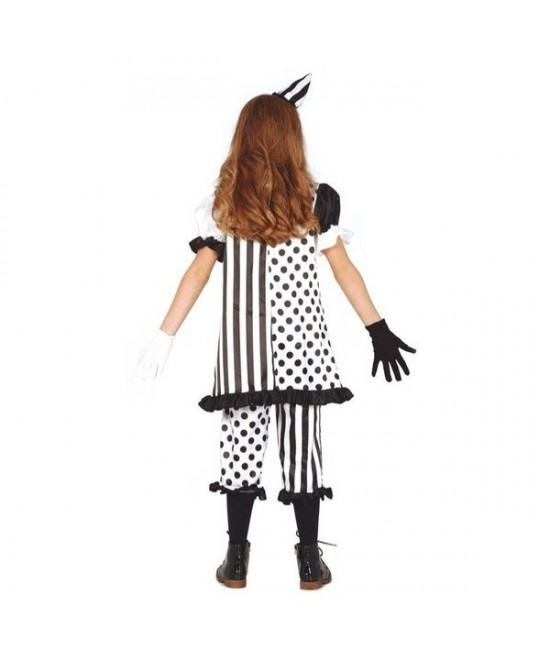 Disfraz Pierrot blanco/negro para niña