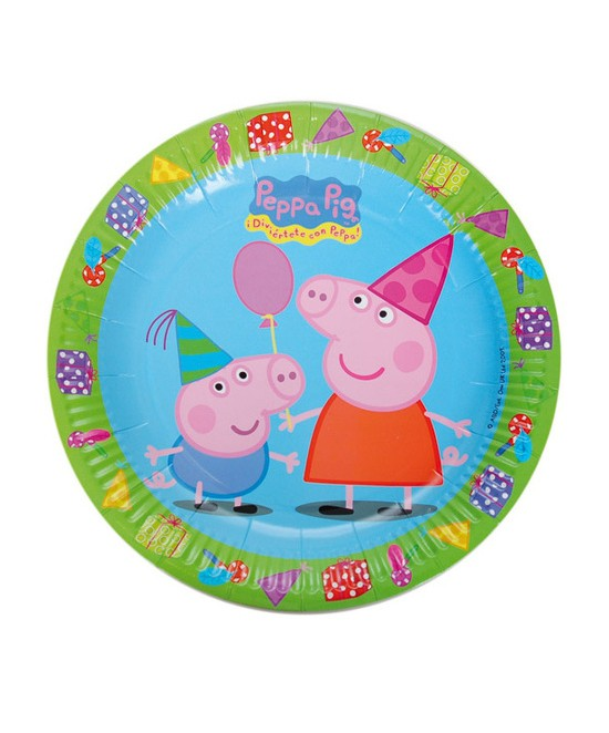Plato Peppa Pig 18 Cm 8 Ud.