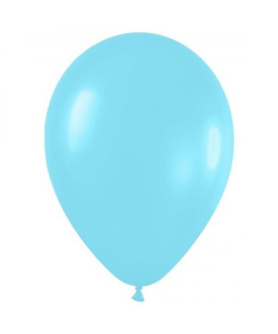 Bolsa 50 Globos Satin Azul Caribe