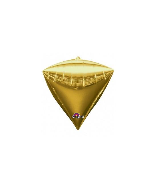 Globo Foil Forma Diamante Oro 15.