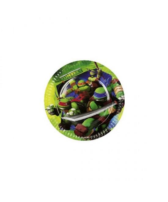 Platos 23 Cm Tortugas Ninja 8  Und.