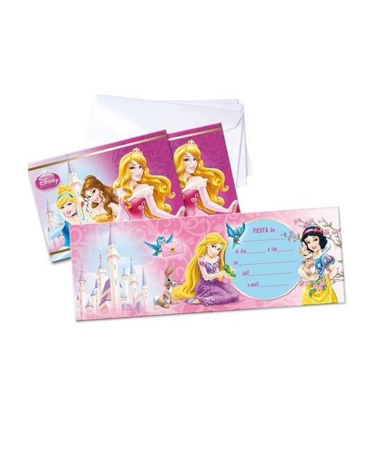 Invitaciones Princesas C/sobre 6 Unid.