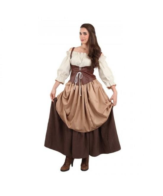 Disfraz Hortelana Medieval Mujer