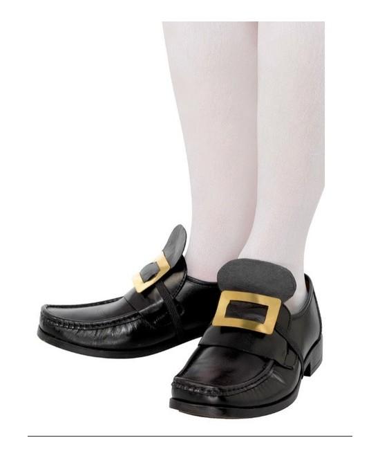 Hebillas doradas para zapatos con goma