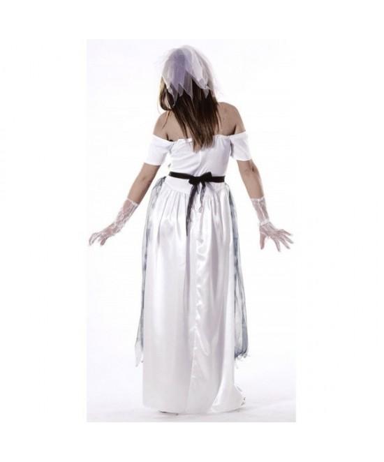 Disfraz Novia Fantasma gris mujer