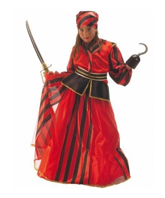 Disfraz Pirata Rayas niña
