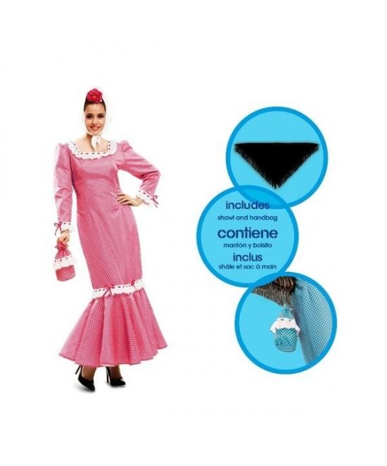 Disfraz Madrileña Rosa Mujer