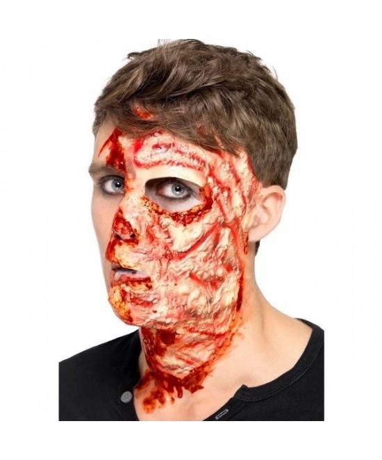 Cicatriz Cara Quemada Latex Con Adhesivo