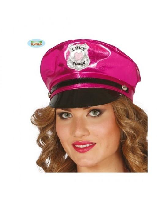 Gorra Policía sexy  Rosa vinilo