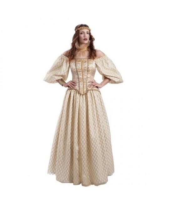 Disfraz Isabel de Inglaterra mujer lujo