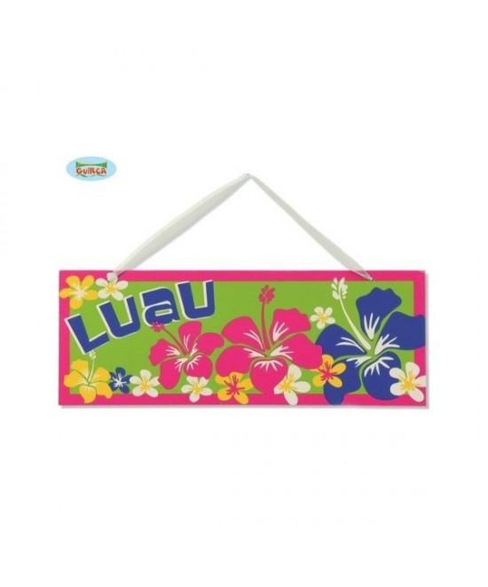 Letrero Decorativo Fiesta Hawaiana
