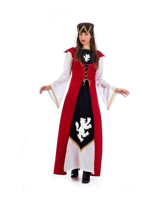 Disfraz Dama Leonor  Medieval mujer