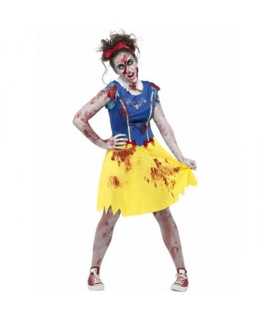 Disfraz Zombie Miss Snow niña