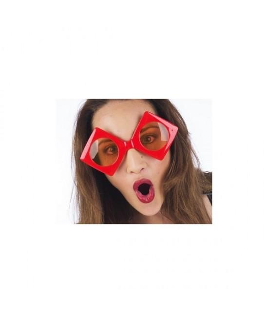 Gafas Rombos Rojos