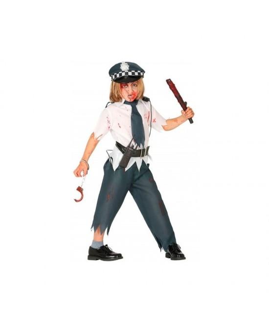 Disfraz Policía Zombie para niño