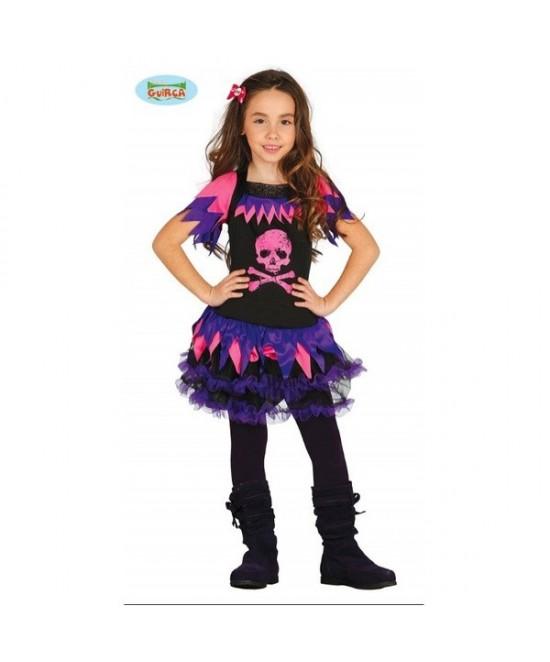 Disfraz Pirata esqueleto rosa para  niña