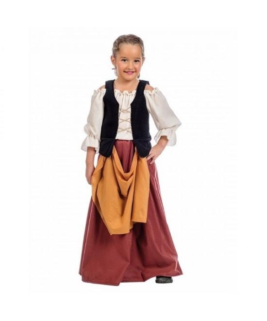 Disfraz Campesina medieval juvenil