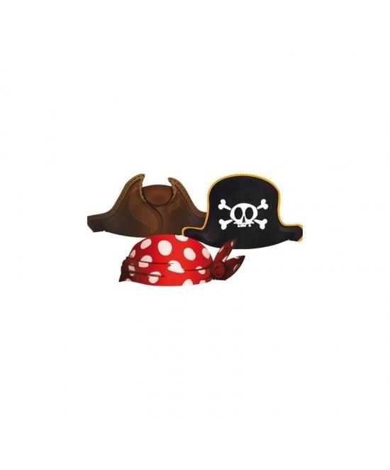 Sombreros Piratas 6 Unid.