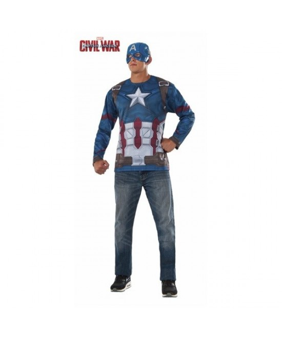 Camiseta Capitán America CW Adulto