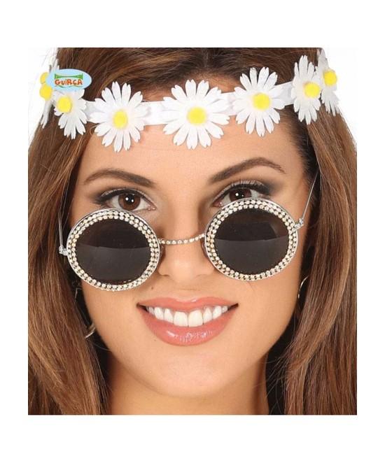 Gafas redondas con brillantes