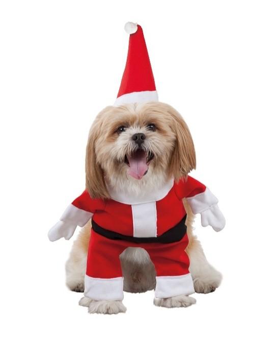 Disfraz de perro Papa Noel