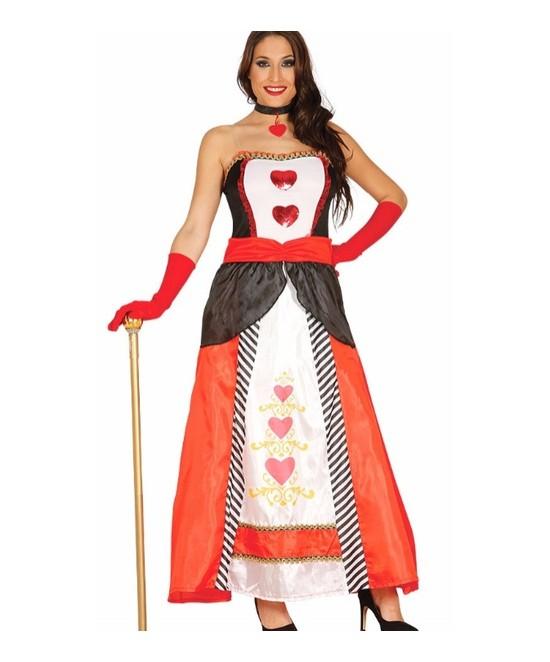 Disfraz Princesa corazones adulta